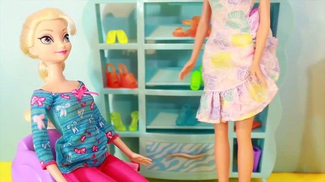 Frozen Barbie Shoe Shopping AllToyCollector Problem Barbie Frozen Parody Toy Shopping Playset