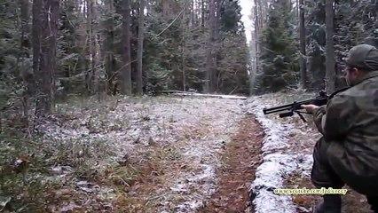 urban Wildschwein-Jagd in Russland.