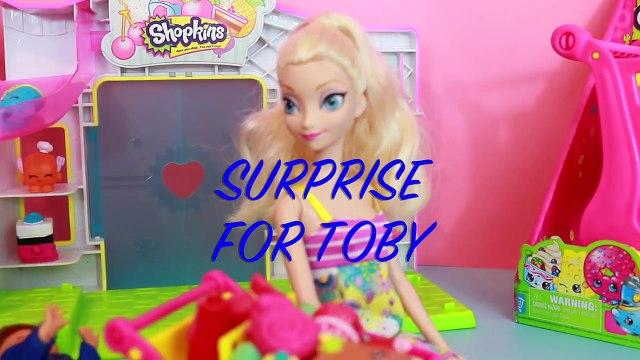 Frozen Disney Elsa Shopkins Shopping Toby Shopkins Song Toy Shopping Cleaning Cart Season