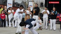 """""""Vannes tous en basket"""". Démonstration de capoeira sur le port"""