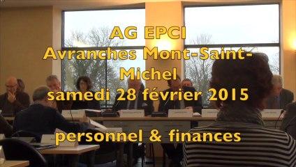 EPCI Avranches MSM - 28/02/2015 - personnel et finances