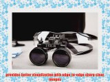 Dental Surgicial Loupe Loupes 2.5x Magnification 16.5 (420mm) Working Distance Black Goggles