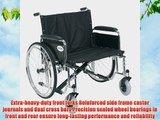 Drive Medical Sentra EC Heavy Duty Extra Wide Wheelchair with Various Arm Styles Arms Black