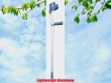 Crutches - 1 Pair of Adult Standard 28 - 36 Featherweight Aluminum Fore-Arm Crutch has aluminum
