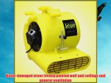 BlueDri Jetster ETL Listed Yellow Air Mover Carpet Blower & Floor Dryer with low amps + GFCI