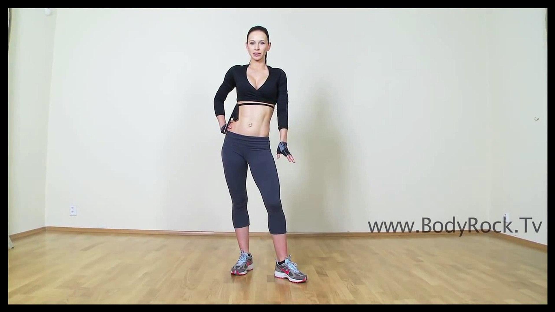 ZUZANA LIGHT - BODYROCKTV - SIDE LUNGE LEG EXERCISE - Fitness Muscle Female  Bodybuilding Training