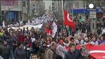 Κωνσταντινούπολη: Διαδήλωση ενάντια στην κακοποίηση των γυναικών