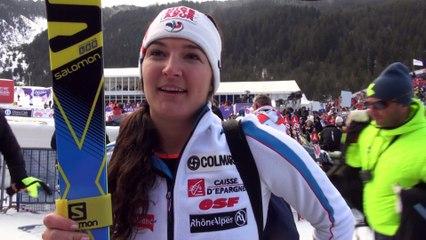 Interview de Margot Bailet après sa 4ème place en Super Combiné à Bansko - Vidéo FFS/EUROSPORT