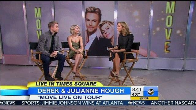 Derek Hough and Julianne Hough On Good Morning America