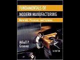 Fundamentals of Modern Manufacturing: Materials, Processes, and Systems Mikell P. Groover PDF Downl