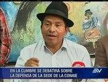 Indígenas de Ecuador preparan protestas por sede y Ley de tierras