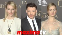 Lily James, Richard Madden, Cate Blanchett Cinderella World Premiere