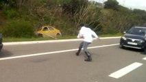 Accident sur une autoroute marocaine bloquée par la police