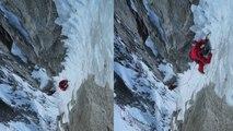 Voie Charlet Ghilini Pointes Supérieures de Pré de Bar Chamonix alpinisme