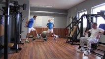 La minute bleue n°4 - Coupe Davis : Julien Benneteau en salle fitness