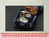 1938 Bugatti 57 SC Corsica Roadster Blue With Crocodile Leather Interior 1/18 Limited Edition