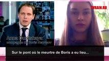 La compagne de Boris Nemtsov témoigne à la TV russe