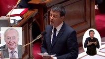 L'hommage de Manuel Valls à Claude Dilain, ancien maire de Clichy-sous-Bois, à l'Assemblée
