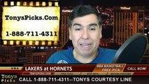 Charlotte Hornets vs. LA Lakers Free Pick Prediction NBA Pro Basketball Odds Preview 3-3-2015