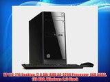 HP 110-216 Desktop (2.0 GHz AMD A6-5200 Processor 4GB DDR3 1TB HDD Windows 8.1) Black