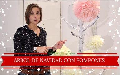 DIY: Cómo hacer un árbol de Navidad con pompones | María G. Lomas