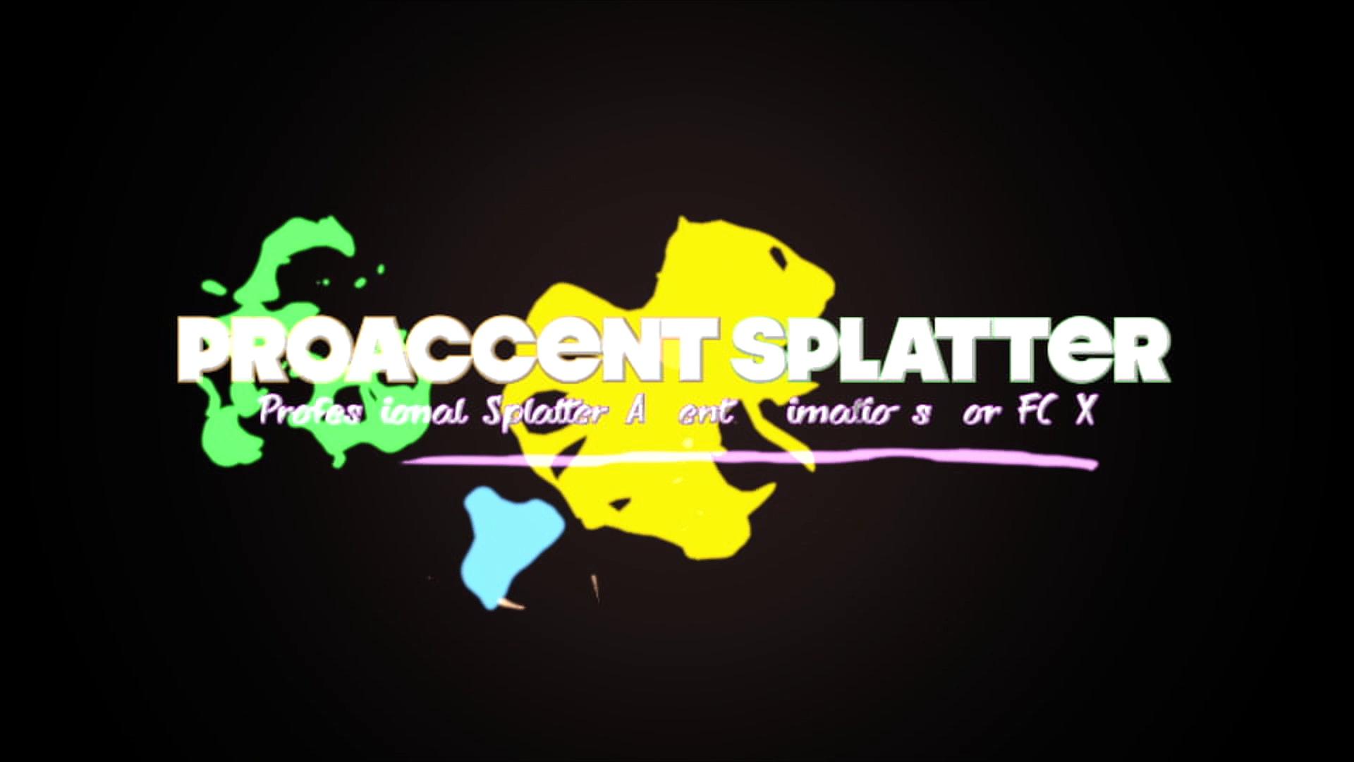 Pixel Film Studios – ProAccent Splatter – Professional Splatter Animations For FCPX
