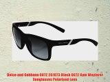 Dolce and Gabbana 6072 2616T3 Black 6072 Gym Wayfarer Sunglasses Polarised Lens