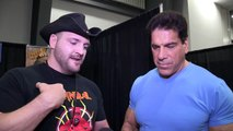 LOU FERRIGNO - ON HULK HOGAN ARMS SIZE - Bodybuilding Muscle Fitness Wrestling