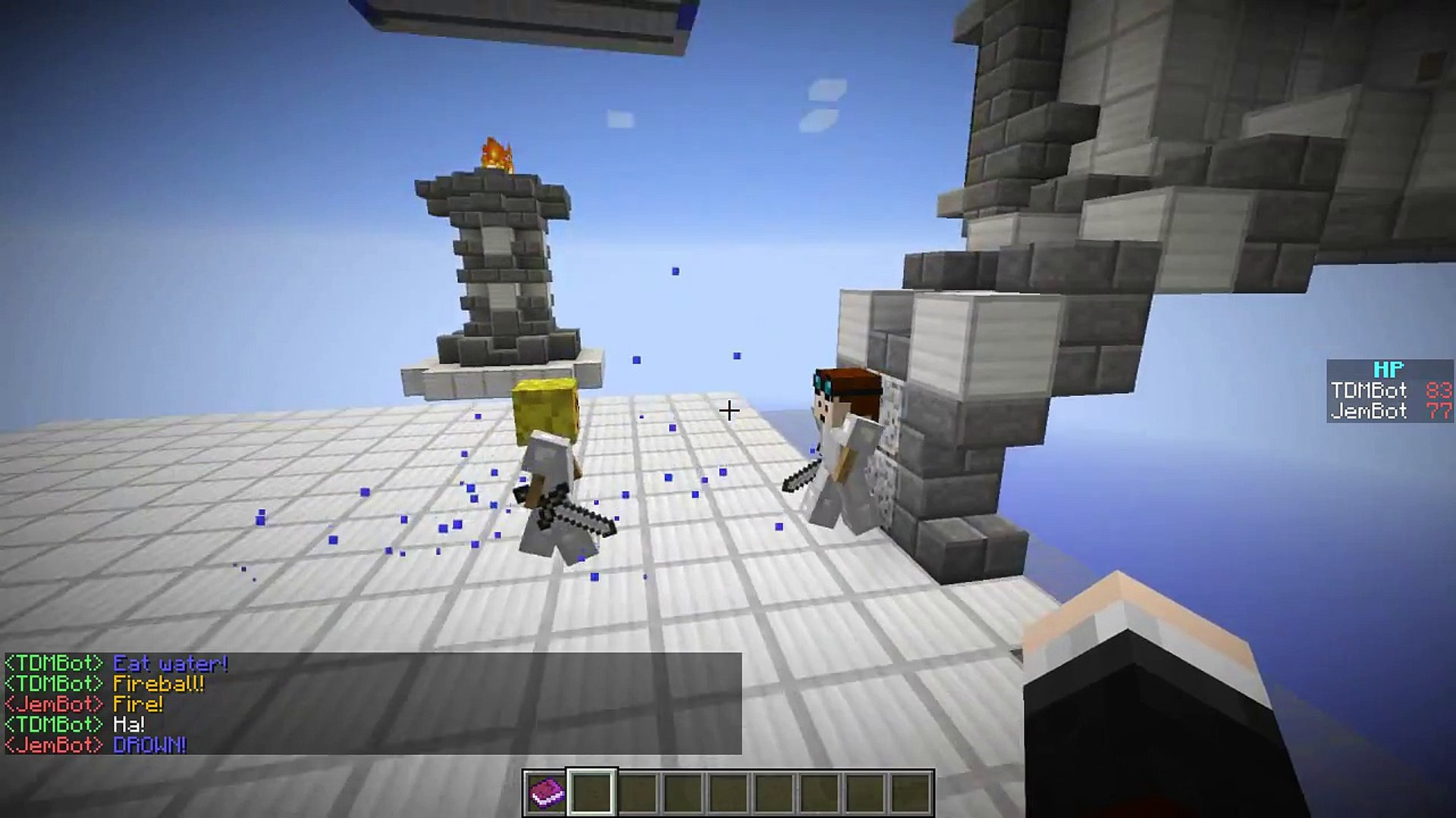 Minecraft - EPIC ROBOT BATTLE!! (DanTDM vs xXJemmaMXx) - Vanilla Mod  Showcase