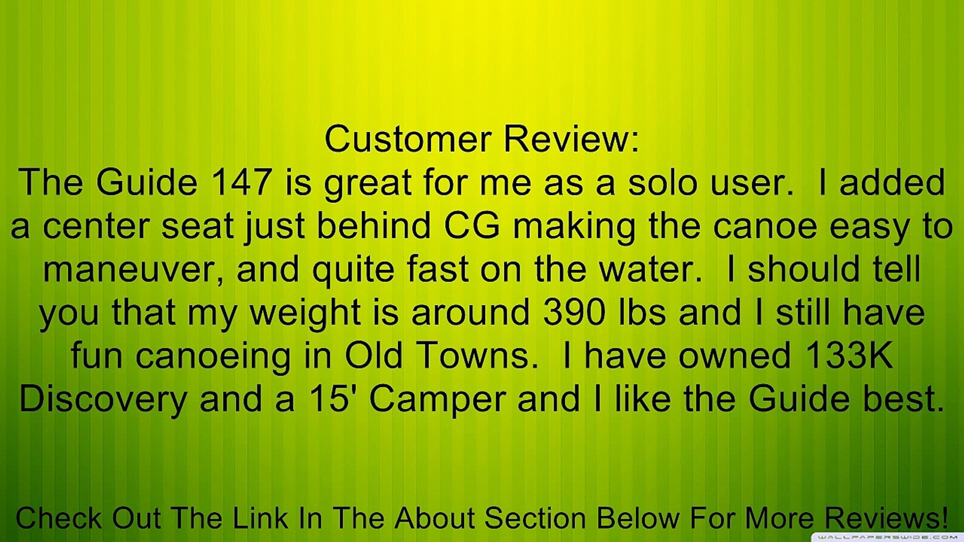 Old Town Guide 147 Recreational Canoe, 14-Feet 7-Inch Review