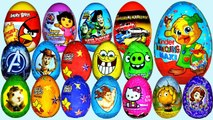 SURPRISE EGGS PEPPA PIG MICKEY MOUSE MINNIE MOUSE FROZEN PRINCESS PLAY DOH EGGS KINDER EGG