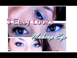 MakeUp Eye - 3 EASY LOOKS