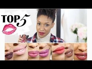 TOP 5 | Rouges à lèvres liquides + Astuces & Conseils