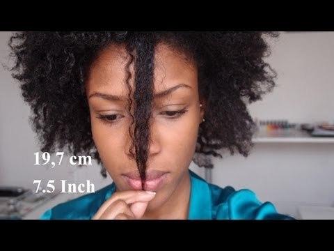 Longueur cheveux crépus frisés naturels - Length check #3