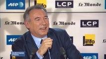 François Bayrou ironise sur la visite surprise de Hollande à Borloo