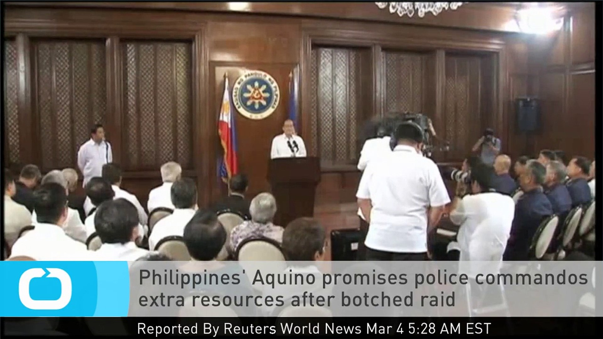 Philippines' Aquino Promises Police Commandos Extra Resources After Botched Raid