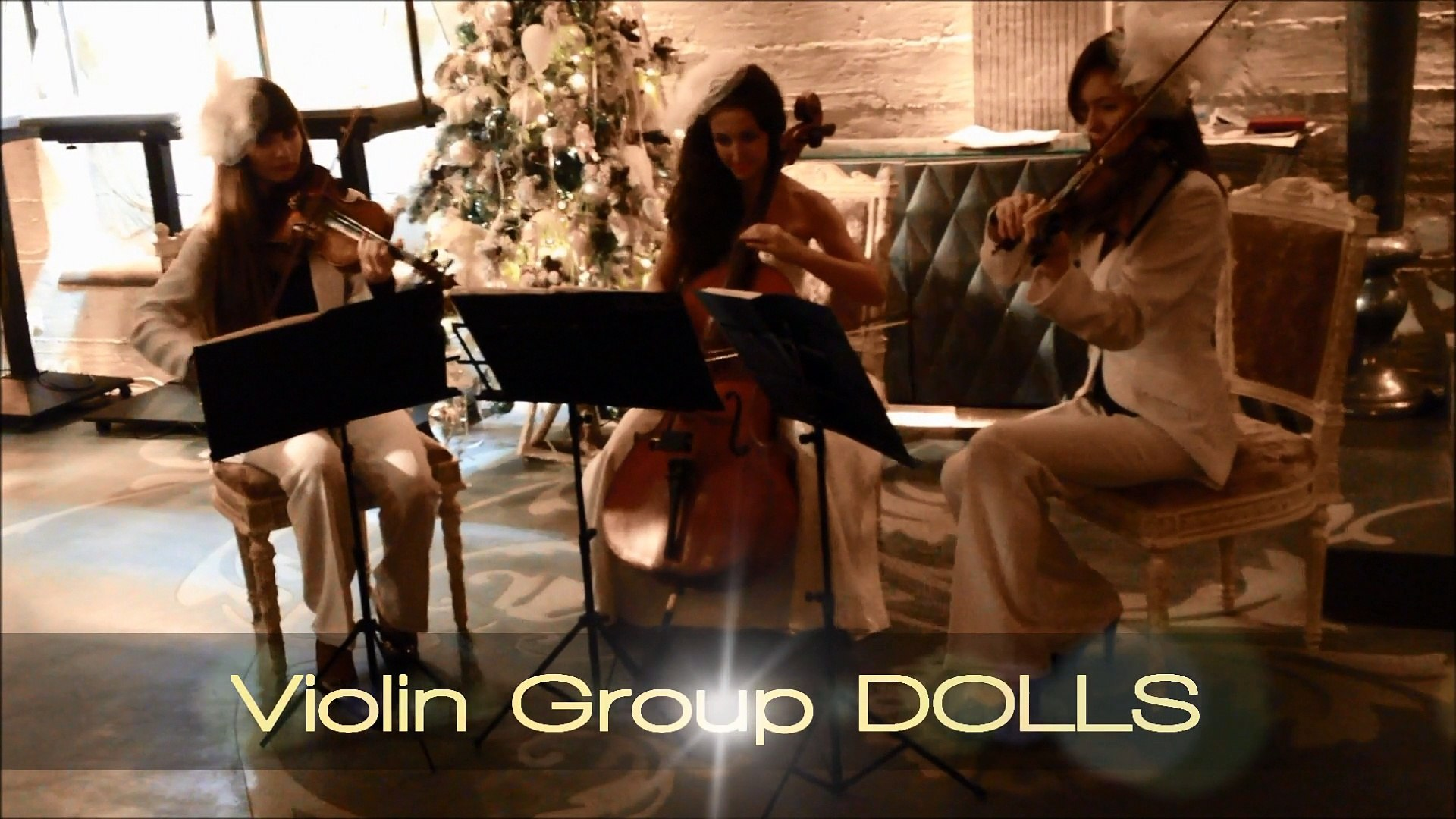 Живая музыка - скрипки и виолончель Violin Group DOLLS, рок, поп