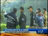Patrullero cayó al abismo en Guaranda