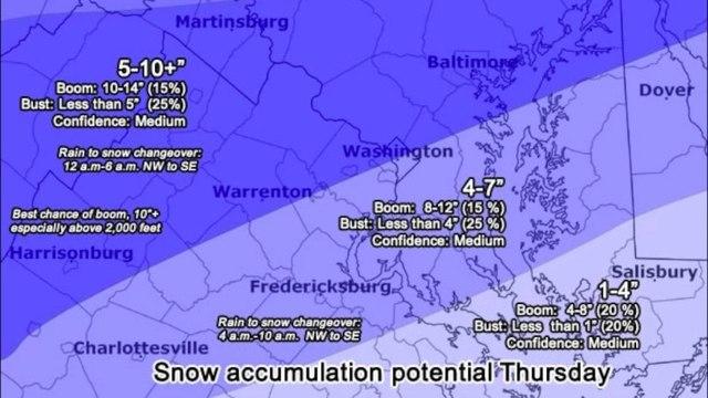 Snow forecast: Substantial amounts Thursday