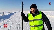 L'hiver, le fleuve gelé devient l'autoroute principale de la Yakoutie