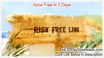 Try Acne Free In 3 Days free of risk (for 60 days)
