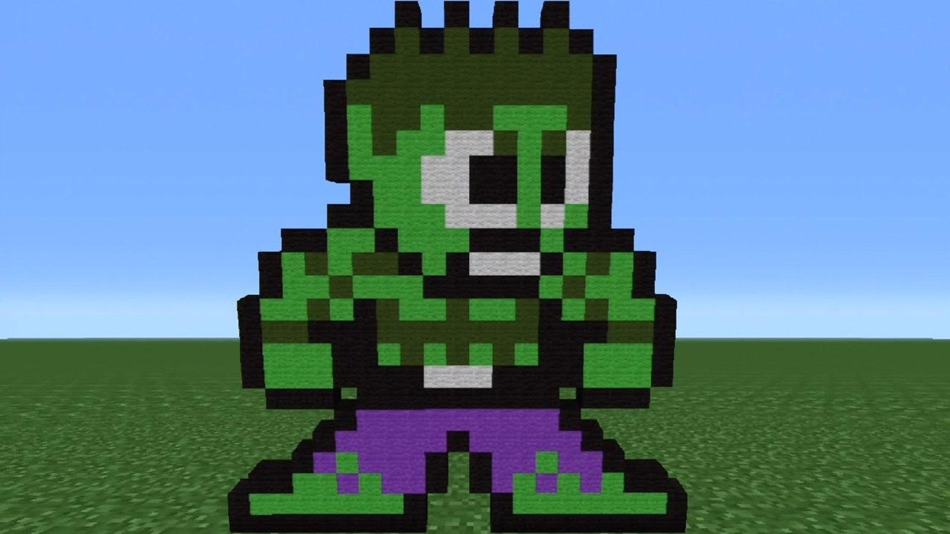 Minecraft Tutorial How To Make Hulk 8 Bit