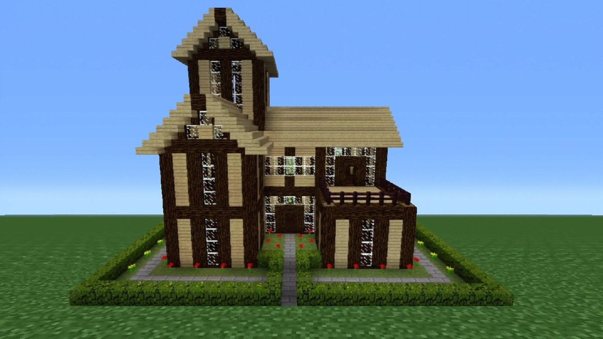 Minecraft Tutorial How To Make A Wooden House 9