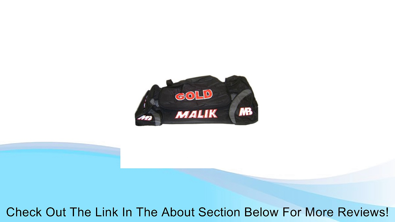 "Mb Malik ""Gold"" Cricket Kit ""Palladium"" Wheel Bag, Equipment Carrier New Review"