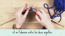 Tricot : apprendre à tricoter en vidéo une maille envers facilement