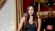 On the set with The Vampire Diaries: Nina Dobrev