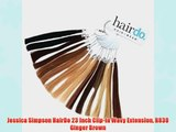 Jessica Simpson HairDo 23 Inch Clip-In Wavy Extension R830 Ginger Brown