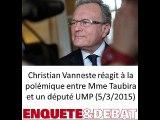 Christian Vanneste réagit à la polémique entre le garde des sceaux et le député-maire UMP de Tourcoing