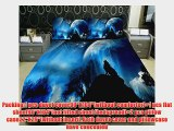 Anlye Late At Night Wolf Howl Moonlight Bedding Set 2 Sides Printing Wolf Howl Quilt Duvet