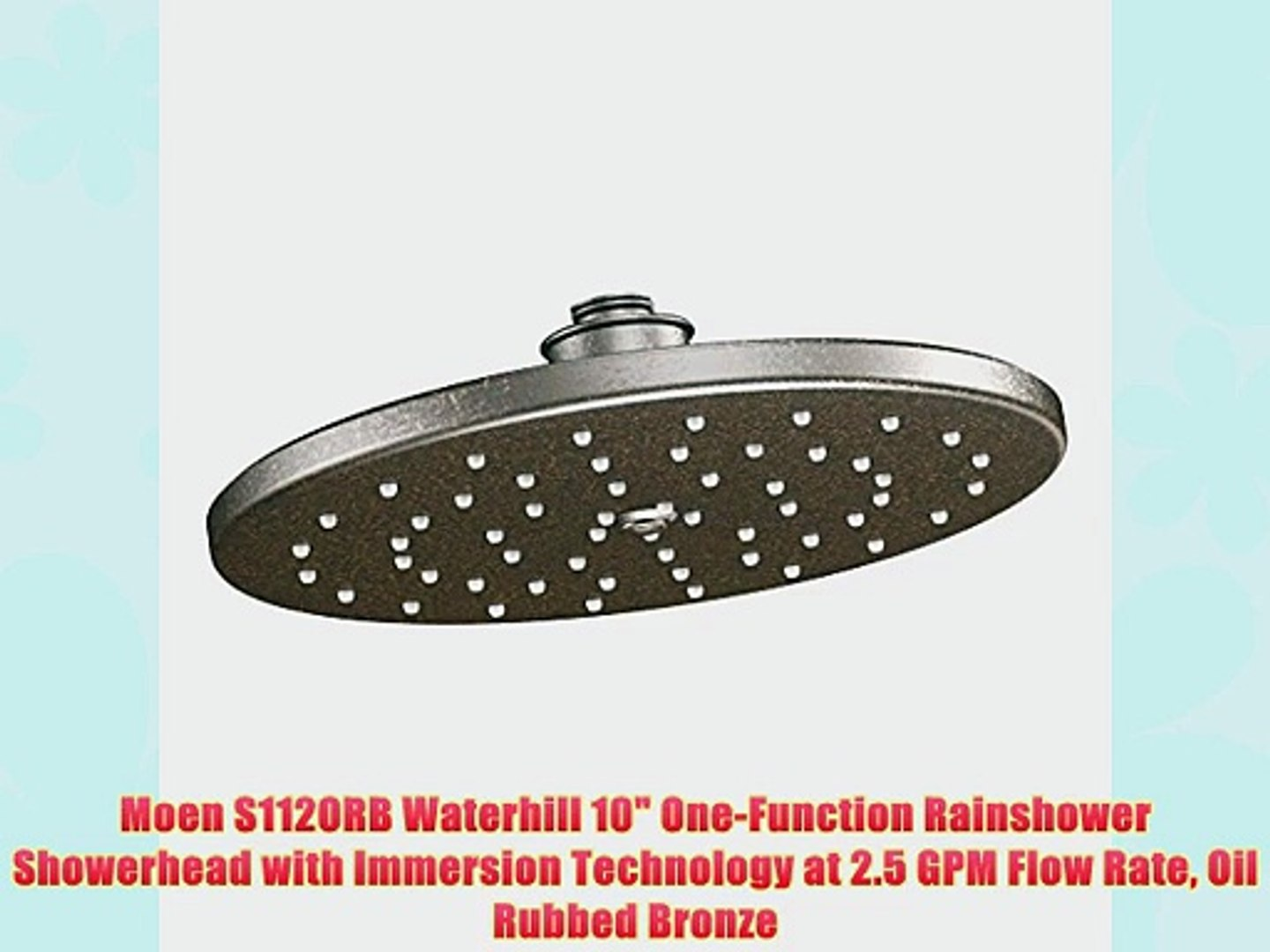Moen S112orb Waterhill 10 One Function Rainshower Showerhead